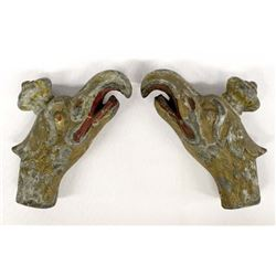 Pair of Antique Greek Griffin Head Handles