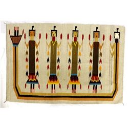 Large Mexican 6 Yei Bei Chei Textile Rug