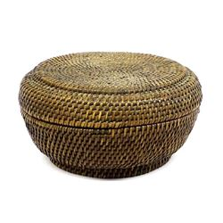 Vintage Native American Lidded Basket