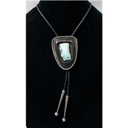 1970 Herb McGuffey Sterling Turquoise Bolo Tie