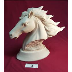 Signed Ceramic Horse Head