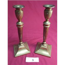 Pair of Brass Victorian Candle Sticks