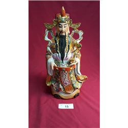 Porcelain Chinese God Figure