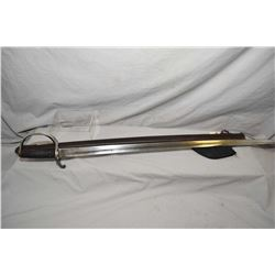 Lot of Two Items : British Cavalry Saber w/ iron hilt and metal scabbard - Modern Gutting Tool w/ bl