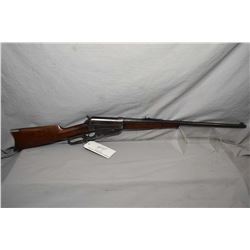 "Winchester Model 1895 .35 WCF Cal Lever Action Rifle w/ 24"" rnd bbl [ blued finish, fading in some a"
