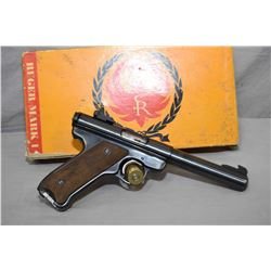Ruger Model Mark I Target .22 LR Cal 9 Shot Semi Auto Pistol  w/ 140 mm bull bbl [ blued finish, wit