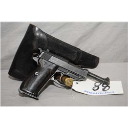 Walther ( cyq Spreewerk ) Model P38 .9 MM Cal 8 Shot Semi Auto Pistol w/ 125 mm bbl [ blued finish,