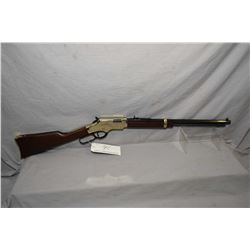 "Henry Model Golden Boy .17 HMR Cal Lever Action Tube Fed Rifle w/ 20"" octagon bbl [ appears excellen"