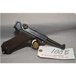Luger  ( DWM) Model P08 .9 MM Luger Cal 8 Shot Semi Auto Pistol w/ 102 mm bbl [ blued finish with fe