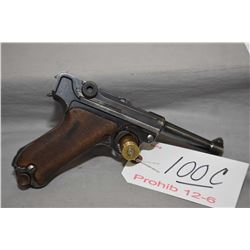 Luger ( DWM ) Model P08  .9 MM Luger Cal 8 Shot Semi Auto Pistol w/ 102 mm bbl [ blued finish, start