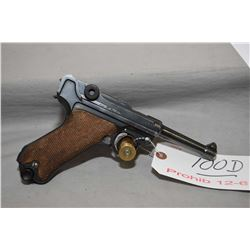 Luger ( DWM ) Model P08 .9 MM Luger Cal 8 Shot  Semi Auto Pistol w/ 102 mm bbl [ blued finish, with