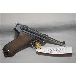 Luger ( Erfurt Arsenal ) Model P08  .9 MM Luger Cal 8 Shot Semi Auto Pistol w/ 102 mm bbl [ blued fi