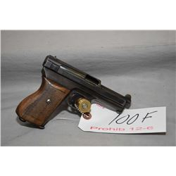 Mauser Model 1934 7.65 MM Cal 8 Shot Semi Auto Pistol w/ 89 mm bbl [ blued finish starting to fade i