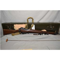 Cased Lee Enfield C # 7 22 In. Mark 1 Canadian Long Branch Dated 1946 .22 RF Full Wood Military Trai