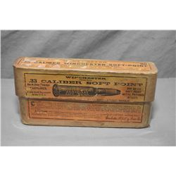 Rare Collector Two Piece Box ( 20 rnds per ) Winchester .33 Cal Soft Point Ammo for Model 1886 Winch