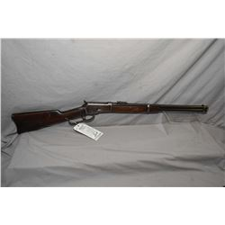 "Winchester Model 1892 .44 WCF Cal Lever Action Saddle Ring Carbine w/ 20"" bbl [ fading blue finish,"