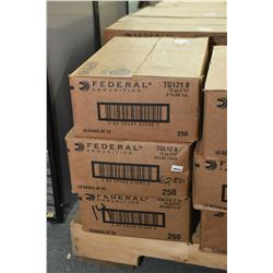 "Three case lots.12 Ga Shotshells Three case Lots ; 10 Boxes ( 25 rnds per ) Federal .12 Ga 2 3/4"" Sh"