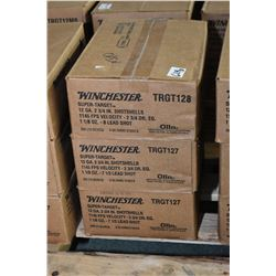 "Three cases of shot shells Three case lots: 10 boxes each of Winchester .12  3/4"" Super target shot"
