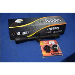 Burris 3X -9X, 40mm 223 scope/mounts Burris 3X -9X, 40mm 223 scope plus a set of sunoptic scope moun