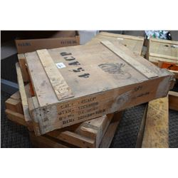 Wood Crate : 1000 Rnds .45 ACP Ammo Wooden Crate : 1000 Rnds .45 ACP Cal Ammo