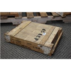 Wood Crate .45 ACP Ammo Wooden Crate : 1000 Rnds .45 ACP Cal Ammo