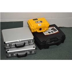 Lot of Four Luggage Style Cases Lot  of Four Luggage Style Gun Cases [ 2 aluminum - one black - one