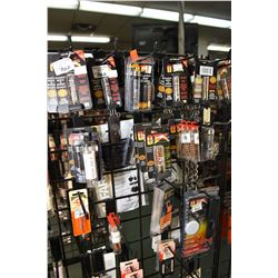 Dealers lot of gun cleaning supplies Dealers lot of new retail cleaning brushes, rip cords, rods, pa
