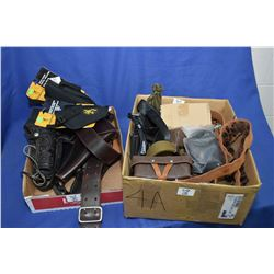 Lot of Two Boxes -  holsters, etc. Lot of Two Boxes : Approx. Six Holsters - [ some appears as new a