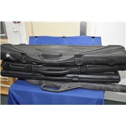 Lot of  Four Items - Blk Rifle Cases etc. Lot of Four Items : Three Black Plastic Rifle Cases - One