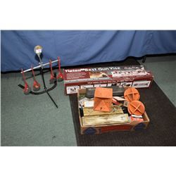 Lot :Three Items - Tippen Gun Vice , etc Lot of Three Items : Tippen Gun Vice in original box - Meta
