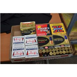 Shot gun shells and primers Selection of shot gun shells and Winchester primers for shot shell reloa