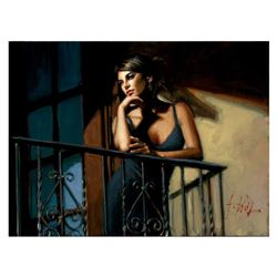 Saba at the Balcony VIII - Black Dress by Perez, Fabian