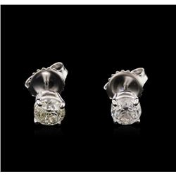 1.15 ctw Diamond Solitaire Earrings - 14KT White Gold