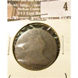 1800 Large Cent, AG, reverse marks.