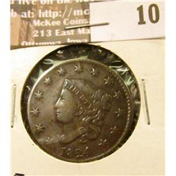 1824 Large Cent, VF.