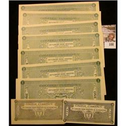 "Nine-piece Set of ""College Currency For Use in 20th Century Bookkeeping & Accounting"", includes .10c"
