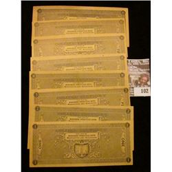 """Eight-Piece Set College Currency """"College Currency For Use in Business Practice Sets Bookkeeping and"""