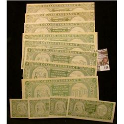 """12 Piece Set, which """"Doc"""" had labeled as """"Unlisted"""" College Currency. He had it valued at $175.00. D"""