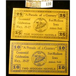 """May 27, 1938 """"Five Wooden Nickels"""", """"25"""", """"""""A Parade of a Century""""/ Centennial/Celebration/May, 25-2"""