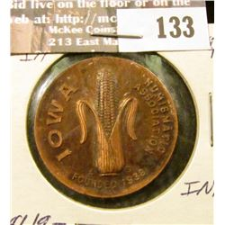 """""""Iowa Numismatic Association/Founded 1938"""", """"Convention/May 17-18/1941/Davenport, Ia."""", Copper, 32mm"""