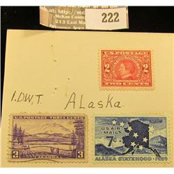 Three Alaska Commemorative Stamps, two are unsigned.
