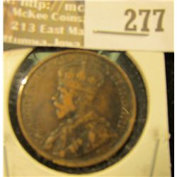 1912 P Canada Large Cent, VF.