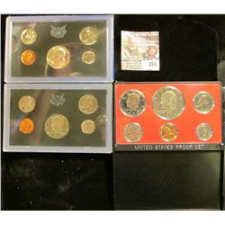 1969 S (Silver), 72 S, & 73 S U.S. Proof Sets. All original as issued. CDN bid is $15.00.