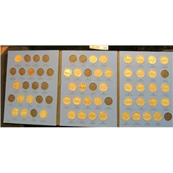 Partial Set of 44 different circulated Buffalo Nickels 1913-1938 in a blue Whitman folder.
