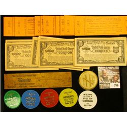 "6"" Wooden Ruler ""Save it with Kyanize""; (13) ""2 1/2 Coupons Southern Oil Stores United Profit-Sharin"
