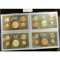 1968 S, 69 S, & 70 S Silver & 71 S Clad U.S. Proof Sets. All original as issued. CDN bid is $22.45.