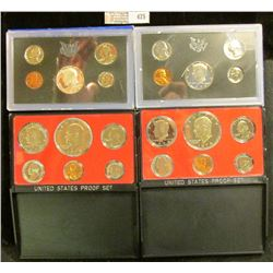 1969 S Silver, 72 S, 73 S, & 74 S U.S. Proof Sets, all original as issued. CDN bid is $23.00.