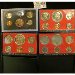 1972 S, 73 S, 74 S, & 75 S U.S. Proof Sets, all original as issued. CDN bid is $25.00.