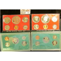 1975 S, 77 S, 95 S, & 96 S U.S. Proof Sets, all original as issued. CDN bid is $31,25.