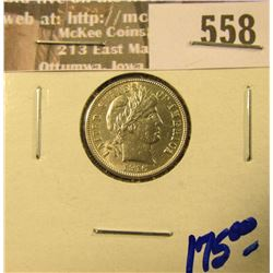 1916 Bsrber Dime.  This Is A High Grade Gem